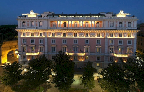 5 star luxury hotel grand hotel flora rome marriott in for Grand hotel rome