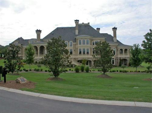 Rear View — $6.9 Million Fabulous Mediterranean Estate in Atlanta, Georgia