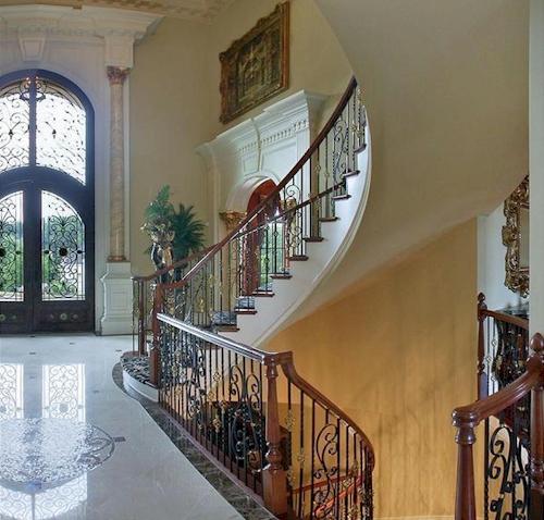 Foyer — $6.9 Million Fabulous Mediterranean Estate in Atlanta, Georgia