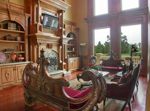 Family Room — $6.9 Million Fabulous Mediterranean Estate in Atlanta, Georgia