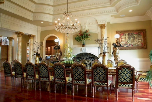 Dining Room — $6.9 Million Fabulous Mediterranean Estate in Atlanta, Georgia