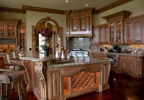 Kitchen — $6.9 Million Fabulous Mediterranean Estate in Atlanta, Georgia