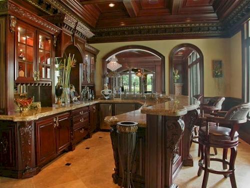 Bar — $6.9 Million Fabulous Mediterranean Estate in Atlanta, Georgia