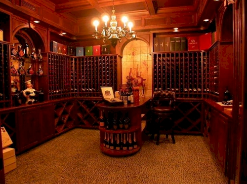 Wine Cellar — $6.9 Million Fabulous Mediterranean Estate in Atlanta, Georgia