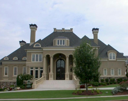 Front of Home — $6.9 Million Fabulous Mediterranean Estate in Atlanta, Georgia
