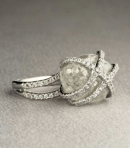 Diamond In The Rough Solitaire Ring