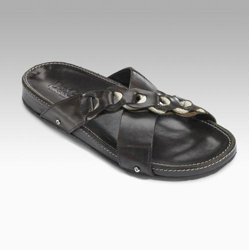 Dolce & Gabbana Rope-Trim Leather Sandals
