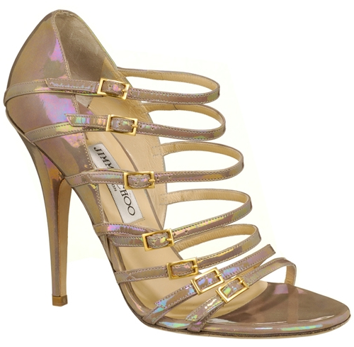 jimmy choo atlas petrol patent sandal - Stylish Sandals