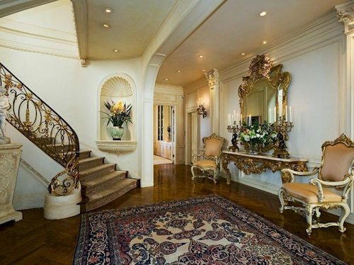 Entrance Hall With Spectacular Staircase