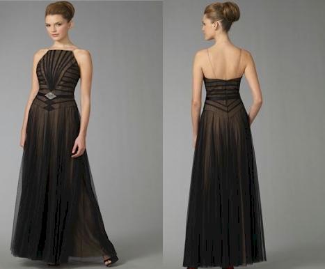 Badgley Mischka Platinum Label Pleated Bodice Gown