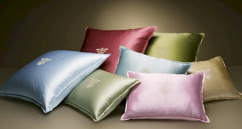 Bright Silk Pillows From Frette