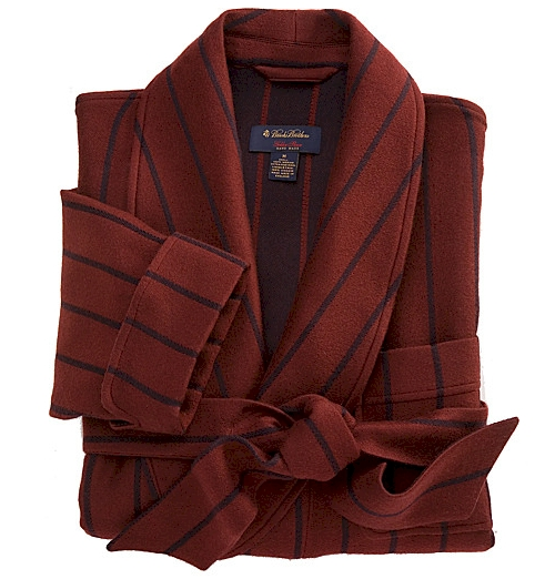 Brooks Brothers Double-Faced Stripe Robe