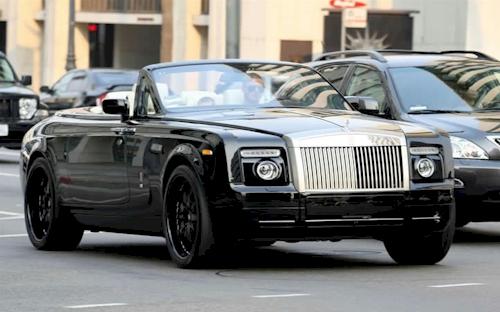 David Beckham Rolls Royce Phantom Drophead Coupe