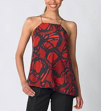 Liz Claiborne Abstract Print Blouse