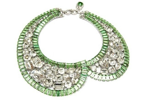 House of Lavande - Robert Sorrell Green Scallop Necklace