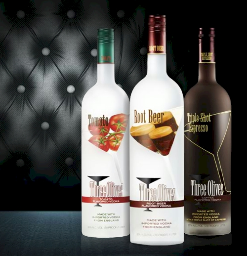 Three New Flavors From Three Olives–Tomato, Root Beer, and Triple Shot Espresso