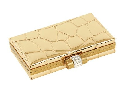 YSL Croc Minaudiere Gold Mirror