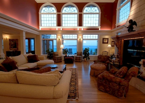 Mansion Living Room >> Estate of the Day: $15.5 Million Muir Haven Mansion in British Columbia, Canada