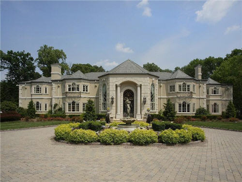 $19.8 Million European Limestone Manor in Saddle River, New Jersey