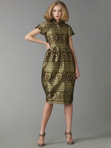 Alexander McQueen Peacock Jacquard Dress