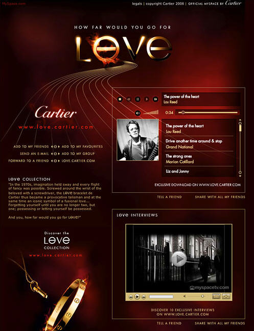 Cartier Myspace Page