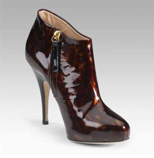 Giuseppe Zanotti Patent Shoe Booties