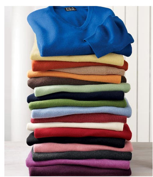 Men's Cashmere V-Neck Sweater at JoS. A. Bank