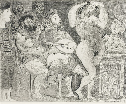 Pablo Picasso Au Cabaret