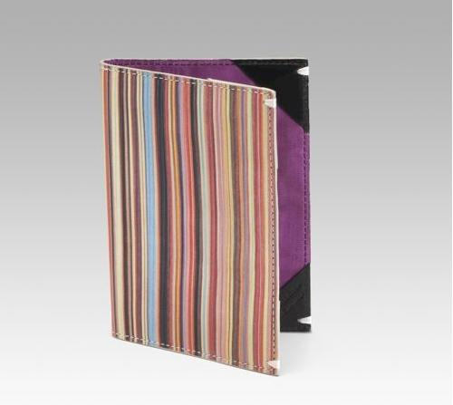 Paul Smith Multistripe Leather Passport Case