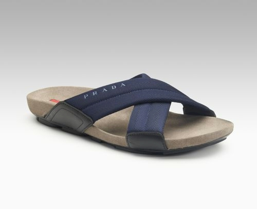 Men's Prada Crisscross Sandals