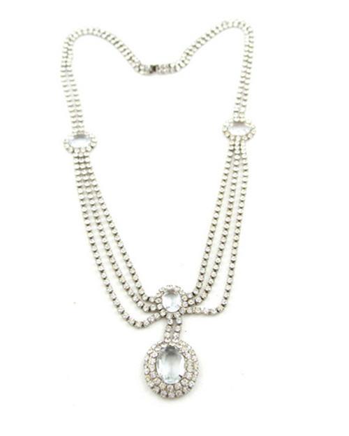 1930's Deco Drop Pendant Necklace