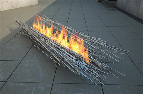 Anne Colombo Fire Sculptures