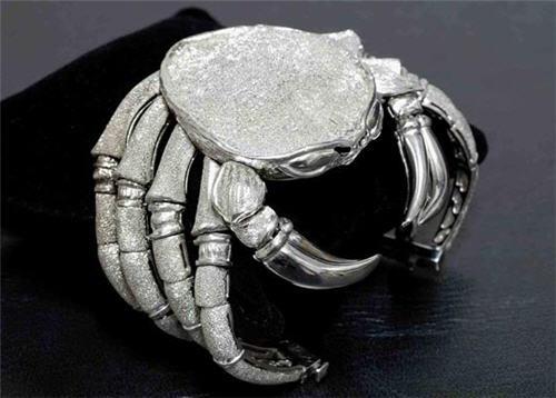 Antonio Palladino Silver Crab Bracelet