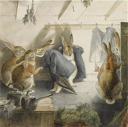 The Robbits' Christmas Party: The Departure by Beatrix Potter
