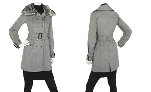 Burberry Fur Collar Coat
