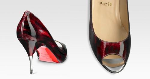 red peep toe pumps. Glittart Peep-Toe Pumps