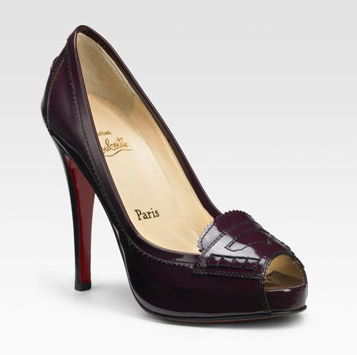 Christian Louboutin Peniche 120 Patent Loafer Pumps