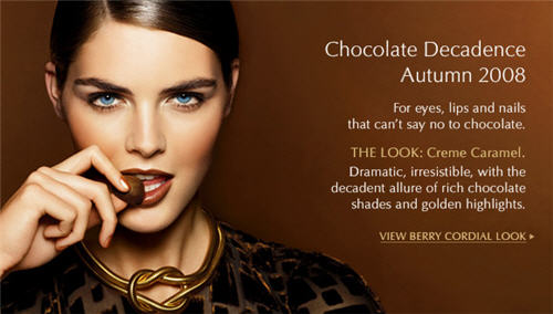 Estee Lauder Chocolate Decadence Autumn 2008 Look