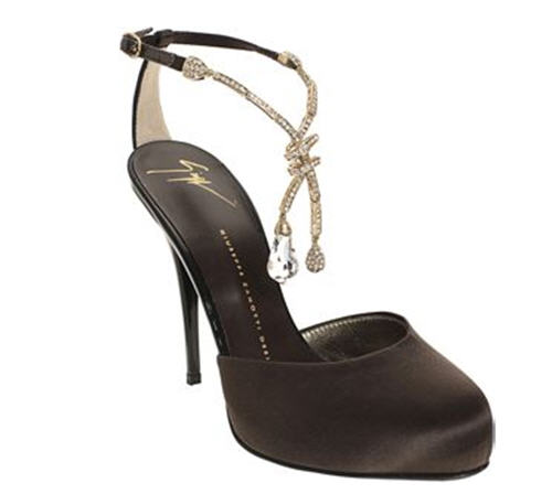 Giuseppe Zanotti Jewel Drop Pump :  chic satin evening shoe