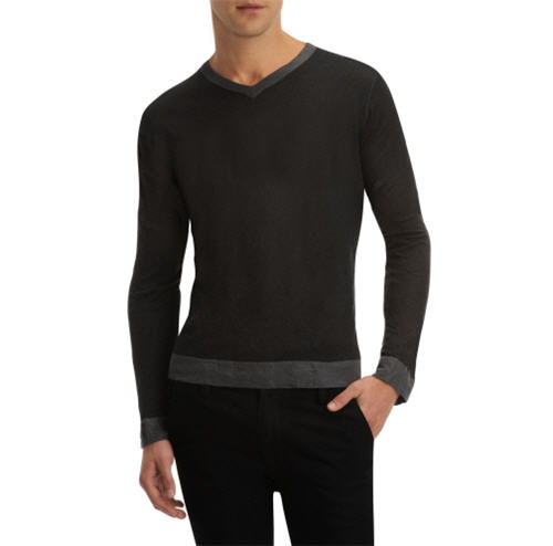 Kenneth Cole New York Long-Sleeve V-Neck Pullover