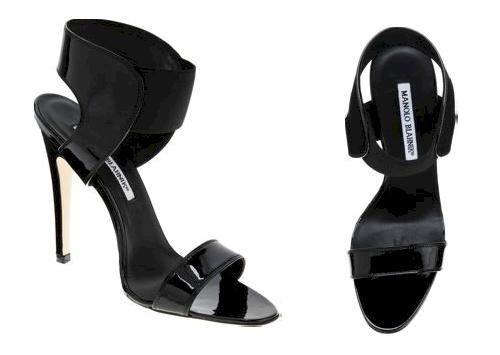Manolo Blahnik :  sandal black women womens