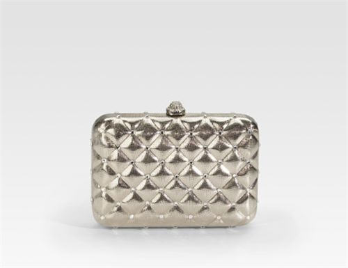 Mary Norton Karla Quilted Brass Clutch