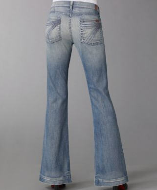 7 For All Mankind Dojo Crystal Wide-Leg Jeans