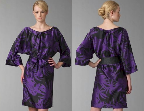 Armani Collezioni Tropical Charmeuse Dress