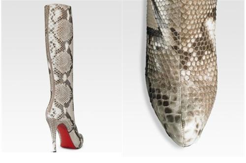 Christian Louboutin Alta Arielle A Talon Python Boots