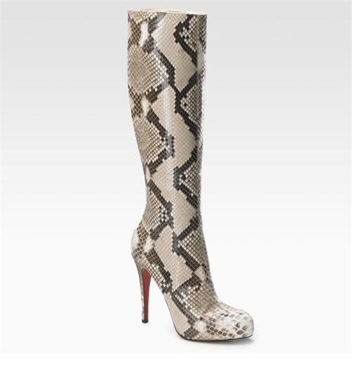 "Christian Louboutin ""Alta Arielle A Talon"" Python Boots :  chic christain louboutin sexy boots"