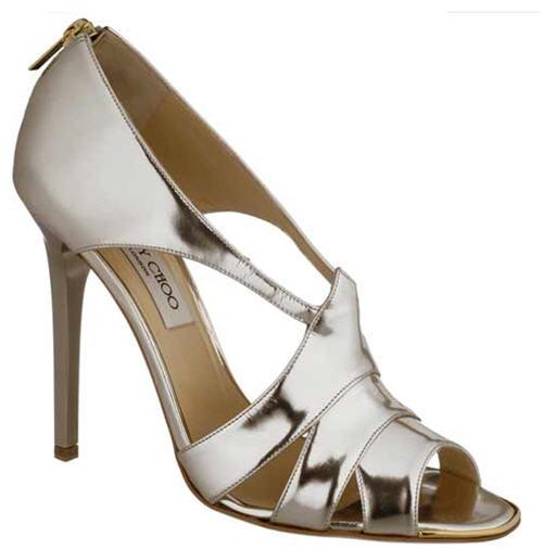 Jimmy Choo Gwen Metallic Patent Leather Sandal