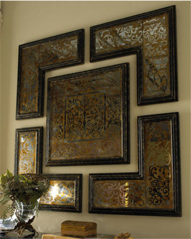 5-Piece Mirrored Wall Art Set