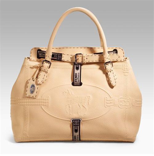 Fendi Large Leather Selleria Tote
