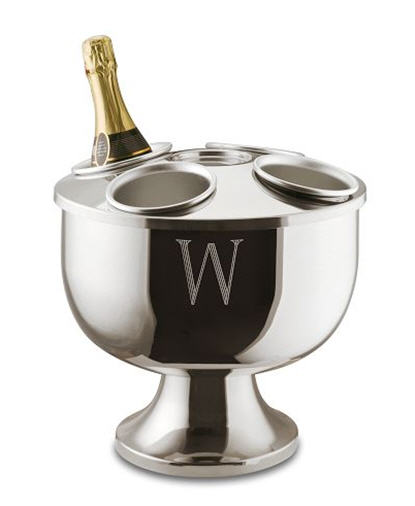 Williams-Sonoma Monogrammed Stainless Steel Champagne Bucket